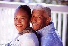 A mature couple; Actual size=240 pixels wide